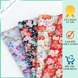 Túi vải nhỏ mini dây rút đựng trang sức độc đẹp họa tiết ấn tượng , hầu bao vải hoa văn túi gấm Komohana thumbnail