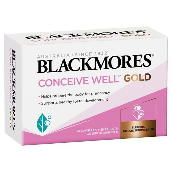 [Hàng chuẩn Úc] Viên uống Blackmores conceive well gold 56 viên hỗ trợ tăng khả năng thụ thai cho nữ