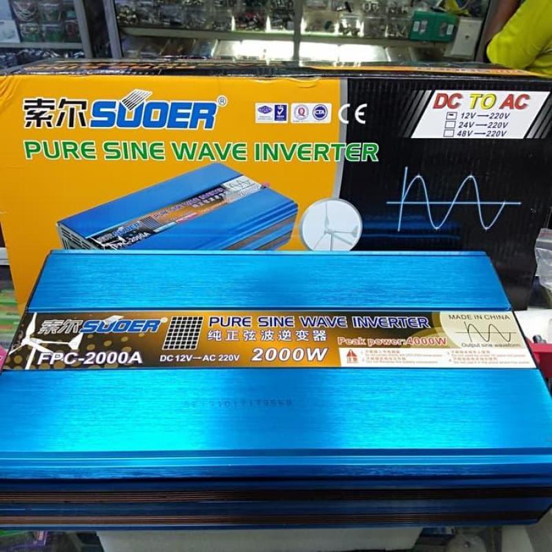 Bảng giá Inverter 12V lên 220V sin chuẩn 2000W FPC-2000A Phong Vũ