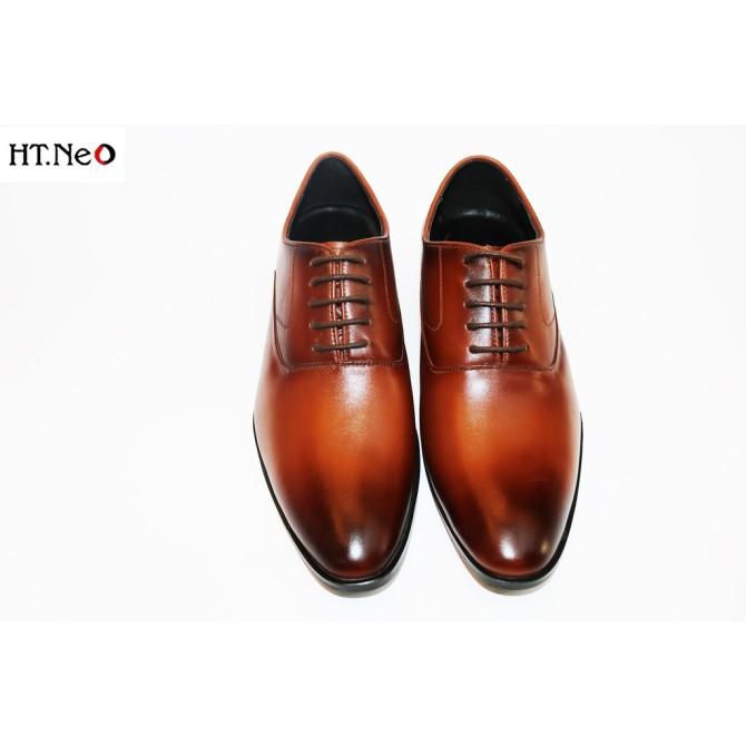 Giày Tây Nam Buộc Dây 💖 Ht.Neo 💖 Da Bò Xịn Thật Kết Hợp Đế Cao Su Tự Nhiên Siêu Đẹp, Kiểu Dáng Siêu Sang Siêu Đẹp. giá rẻ