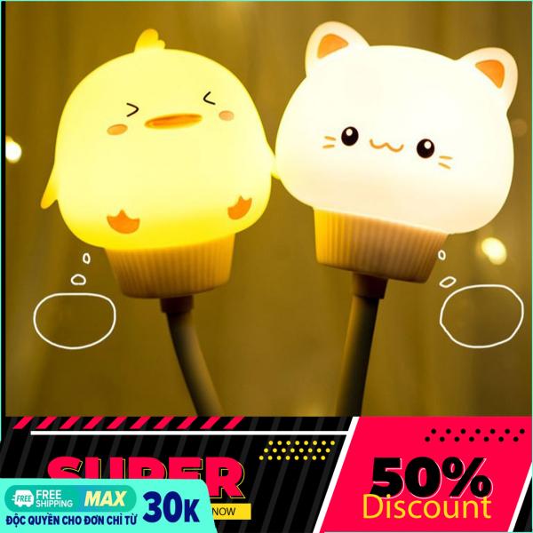 Bảng giá Đèn ngủ tự động hình đầu thú cưng hình dễ thương ánh sáng nhẹ , Đèn ngủ LED hình động vật dễ thương dành cho trẻ em phù hợp làm quà tặng, đèn ngủ có điều khiển thừ xa