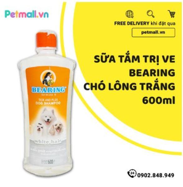 Sữa tắm trị ve BEARING Chó lông trắng 600ml - nhập Thái