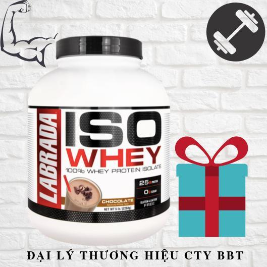 Tăng cơ ISO WHEY – 100% Whey Protein Tinh Khiết- 73 lần dùng + kèm quà tặng nhập khẩu