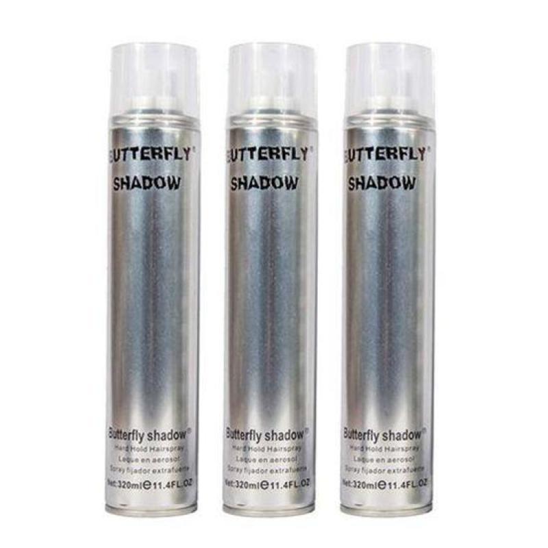 Gôm giữ nếp tóc Butterfly Shadow 320ml (Trắng) giá rẻ