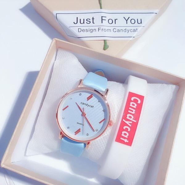 Đồng hồ thời trang nữ Candycat dây da mẫu mới siêu hot SC755