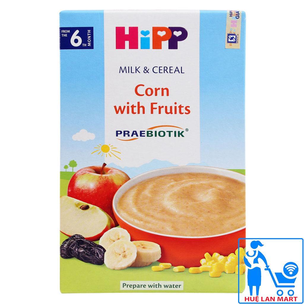 Bột Ăn Dặm Dinh Dưỡng HiPP Corn with Fruits (Bắp, Sữa và Hoa Quả) Hộp 250g (Cho trẻ từ 6 tháng tuổi)