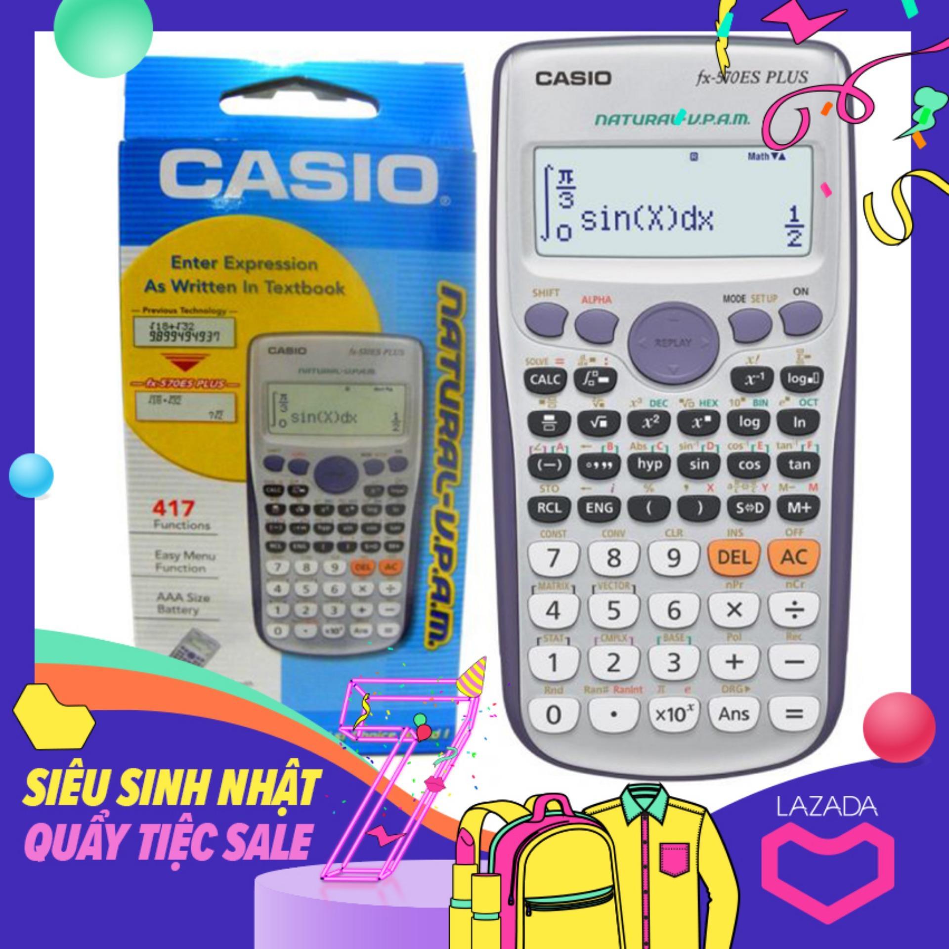 Mua Máy Tính Casio FX 570 ES Plus - Tem Bitex (BH 2 Năm)