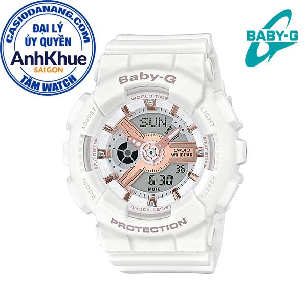 Đồng hồ nữ dây nhựa Casio Baby-G chính hãng Anh Khuê BA-110RG-7ADR (43mm)