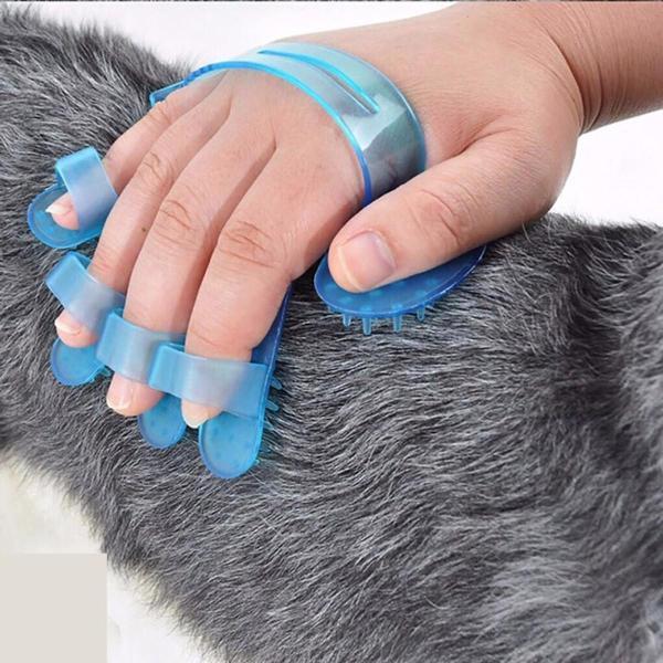HCM- GĂNG TAY TẮM CHO CHÓ MÈO, (Màu ngẫu nhiên) găng tay nhựa có gai mát xa