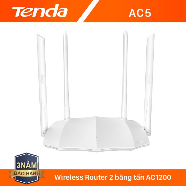 Bảng giá [Voucher giảm thêm 30k]Tenda Thiết bị phát Wifi AC5 Chuẩn AC 1200Mbps - Hãng phân phối chính thức Phong Vũ