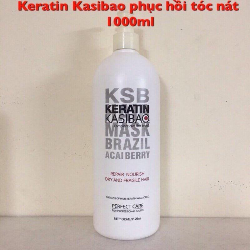 KERATIN KASIBAO KSB BRAZIL ACAI BERRY THỦY PHÂN PHỤC HỒI TÓC HƯ TỔN NẶNG 1000ML