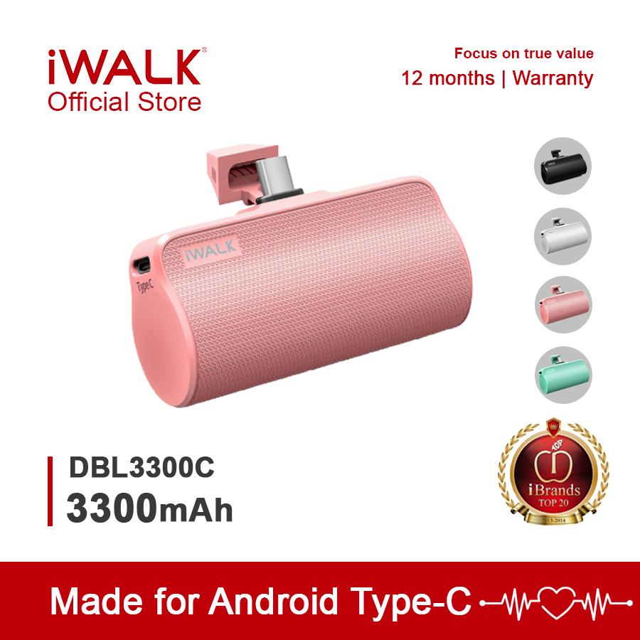 [ HÀNG CHÍNH HÃNG ] Pin Sạc Dự Phòng Không Dây Mini Type-C IWalk Link Me Plus DBL3300C 3300mAh,dành Cho Android, Cục Sạc Dự Phòng Giảm Cực Hot