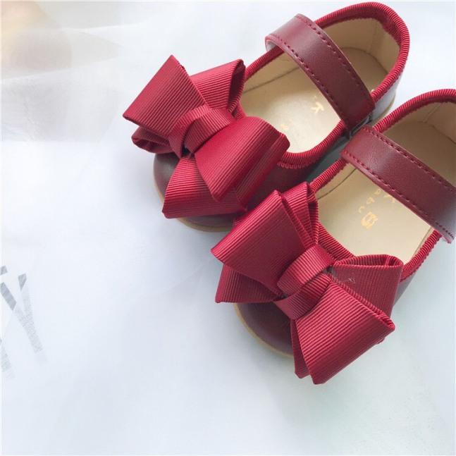 Giày búp bê gắn nơ siêu xinh cho bé gái hàng xuất khẩu - Form bé giá rẻ