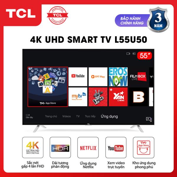 Bảng giá Smart TV TCL 55 inch 4K UHD wifi - L55U50 - HDR, Micro Dimming, Dolby, T-cast - Tivi giá rẻ chất lượng - Bảo hành 3 năm - [Sản phẩm MỚI, ĐỘC QUYỀN trên Lazada] Điện máy Pico