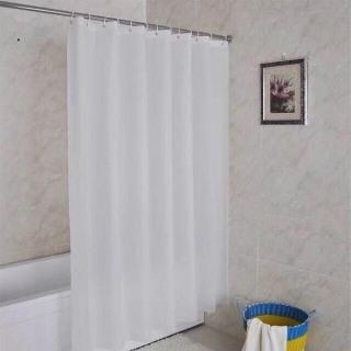 Rèm phòng tắm trắng trơn 180cm x 180cm trắng trơn một màu PEVA thumbnail