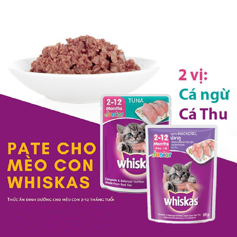 Pate mèo con Whiskas Junior 80g Thức ăn ướt cho mèo con - CutePets