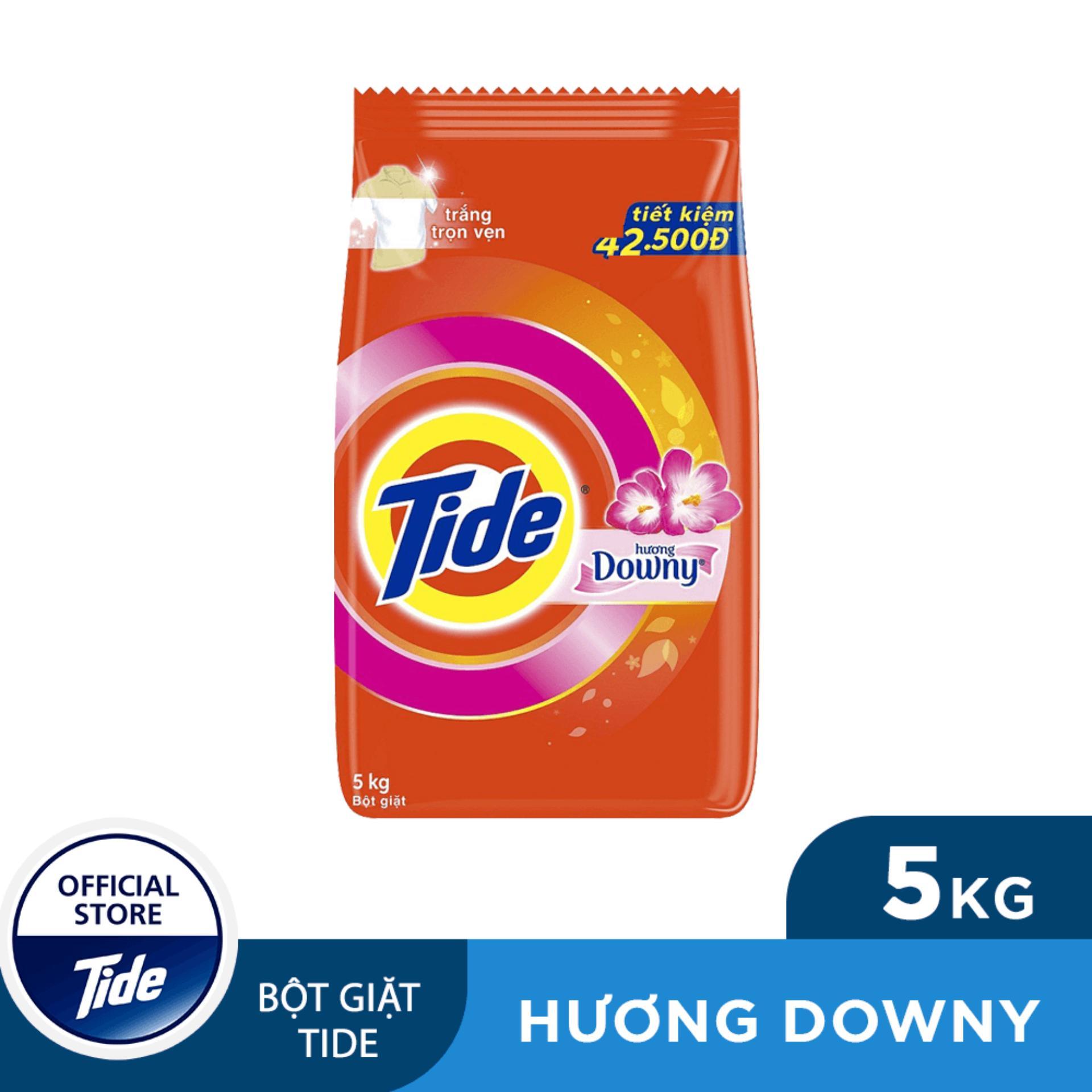 [ Tặng ngay Ariel Dịu nhẹ 360ml ] Bột giặt Tide Hương Downy Túi 5.0kg [bonus]