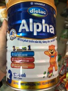 Sữa bột Dielac Alpha số 3 cho bé từ 1-2 tuổi hộp 900g thumbnail