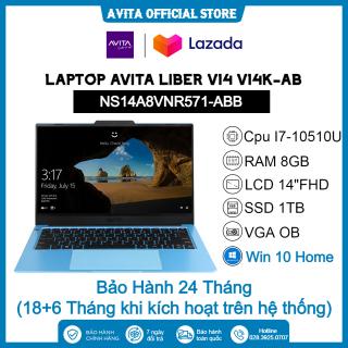 [HCM]Laptop Avita LIBER V14K-AB NS14A8VNR571-ABB i7-10510U 8GB 1TB 14 FHD OB Win10 thumbnail