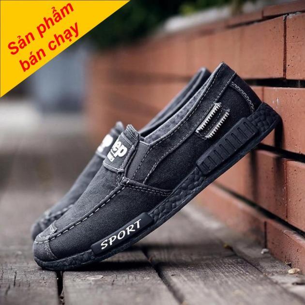 Giày lười nam , giày lười vải thời trang  Hàn Quốc ( SP03 ) giá rẻ