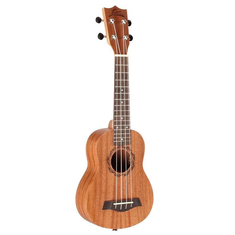 Asson Ukulele Sapele Tenor Ukulele 26 Inch Uke Hawaii 4 String Guitar Metal String Tuning Pegs Rosewood Fingerboard