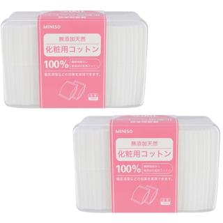 Combo 2 hộp bông tẩy trang Miniso 1000 miếng x 2, bề mặt sản phẩm bằng chất liệu 100% cotton nhập khẩu từ Nhật Bản, có đặc tính mềm mại, đặc biệt không gây kích ứng da thumbnail