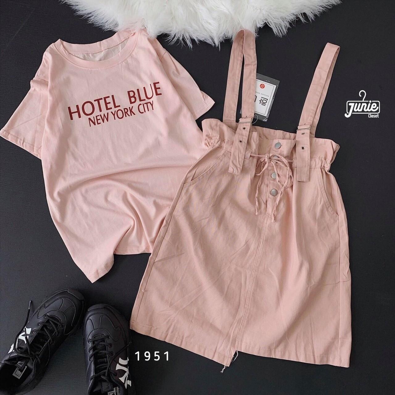 Giá Cực Tốt Khi Mua Sét Yếm Váy + áo Thun