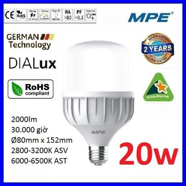 Bóng led bulb 20W cao cấp MPE LBD-20 ( tiêu chuẩn Châu Âu ) - Điện Việt