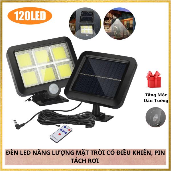 Bảng giá Đèn Led Năng Lượng Mặt Trời 120 LED Và 100LED COB Có Điều Khiển Từ Xa,Pin Tách Rời, Cảm Biến Chuyển Động - 3 CHẾ ĐỘ SÁNG,Chống Nước Tuyệt Đối IP67