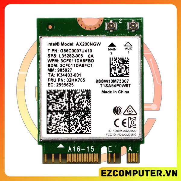 Bảng giá [Nhập ELJAN11 giảm 10%, tối đa 200k, đơn từ 99k]Intel Wi-Fi 6 AX200 802.11ax Kép Bluetooth 5.0 - Hỗ trợ các main có khe m2 wifi PCIe Phong Vũ