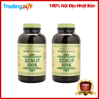 Bộ 2 hộp tảo xoắn Spirulina 2200 viên tem đỏ Nội địa Nhật Bản thumbnail