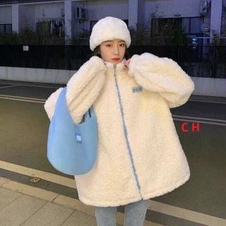 Áo Khoác Lông Nữ Dáng Thụng Dễ Mặc 2 Mặt Lông mềm ấm thumbnail