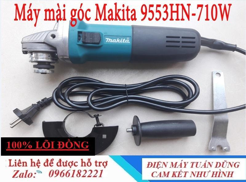 Máy cắt sắt, máy mài Makita 9553HN cầm tay công suất mạnh mẽ 710W - Máy mài Makita 9553HN