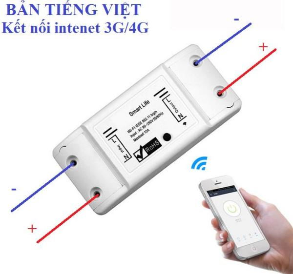 Combo 2 công tắc wifi Smart life - Bản Tiếng Việt, công tắc diều khiển từ xa, công tăc hen gio