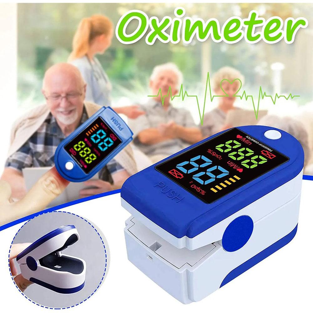 Máy Đo Nồng Độ Oxy Trong Máu Spo2 và Nhịp tim, Máy Đo Nồng Độ Oxy Spo2, Máy Đo Nồng Độ Oxy Trong Máu Bằng 2 Đầu Ngón Tay, Máy Dễ Sử Dụng An Toàn Khi Sử Dụng.