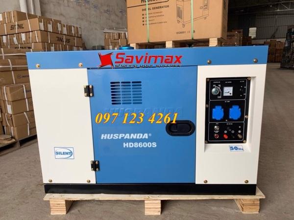 Máy phát điện không dầu giảm âm Huspanda HD 8600