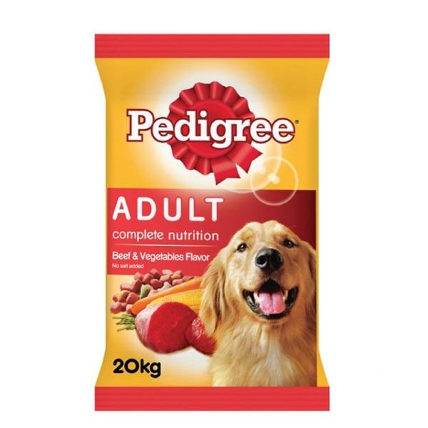 Thức ăn cho chó Pedigree vị thịt bò và rau củ bao 20kg
