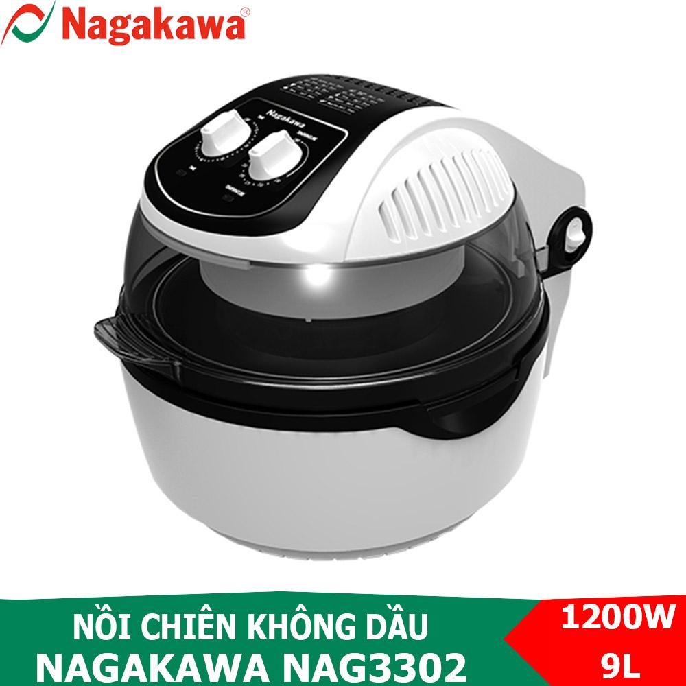 Nồi chiên không dầu Nagakawa NAG3302 dung tích 9 Lít đa chức năng