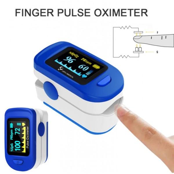 Nơi bán [HÀNG CHẤT LƯỢNG CAO] Máy đo nhịp tim PULSE OXIMETER LK88 kẹp ngón tay - Máy nồng độ oxy trong máu cầm tay - Bảo hành 12 tháng