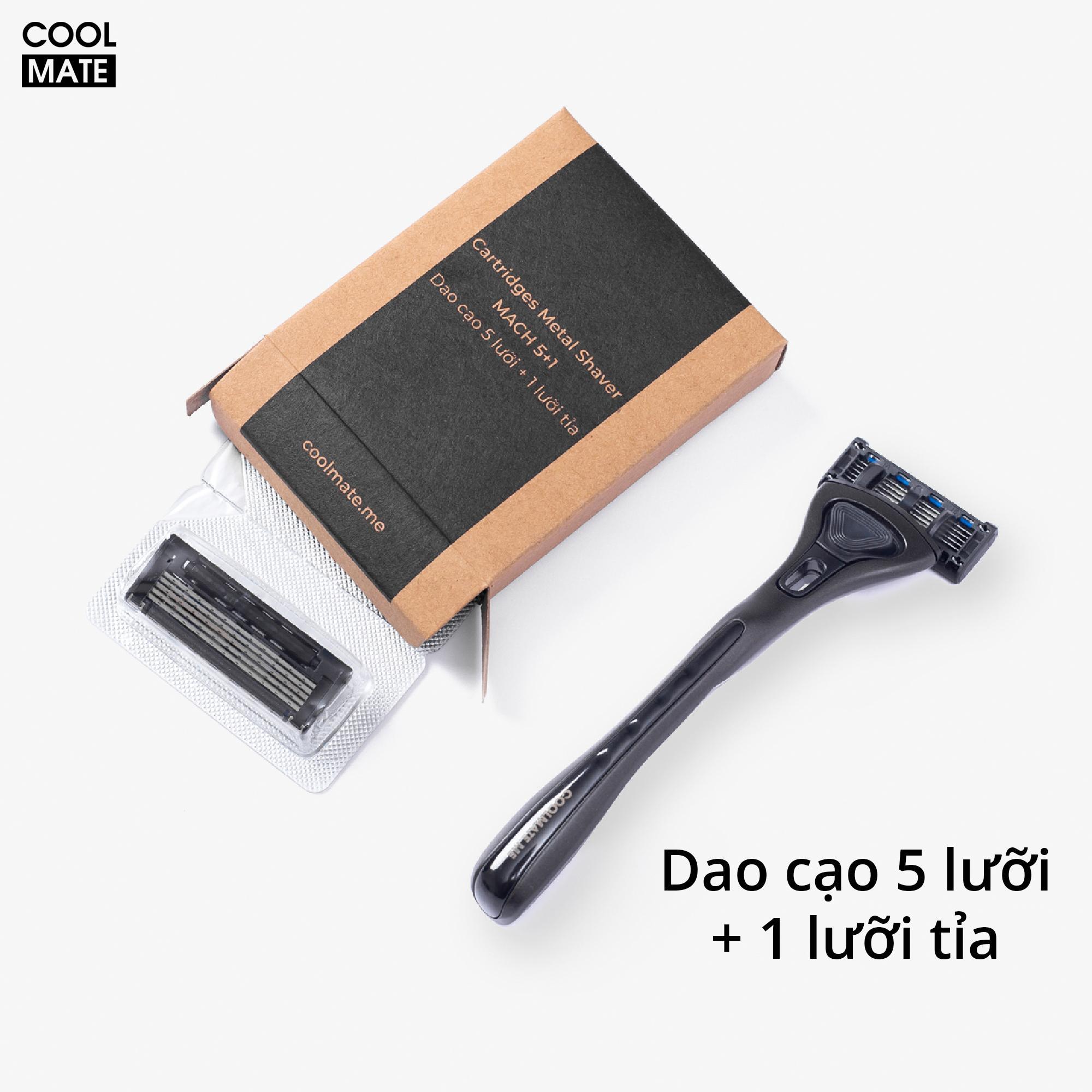 BỘ DAO CẠO RÂU COOL SHAVING KIT 5 LƯỠI - COOLMATE
