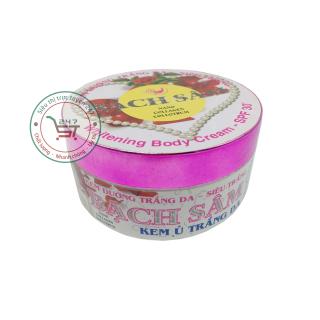 Kem ủ dưỡng trắng da toàn thân Bạch Sâm 250g (Trắng - Tím) thumbnail