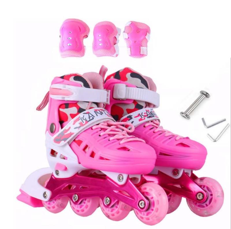 Phân phối Giày trượt Patin trẻ em tặng đồ bảo hộ(5 đến 14 tuổi)