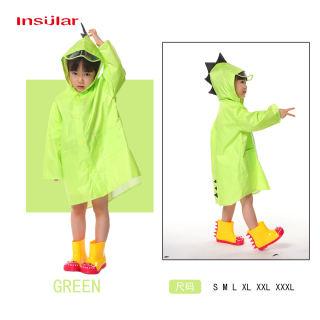 Áo mưa choàng poncho Insular hình khủng long dễ thương cho bé trai và bé gái, vải polyester không thấm nước, 5 màu sắc tùy chọn - INTL