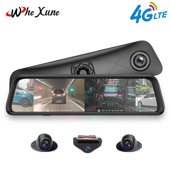 Camera hành trình 360 độ kết hợp gương ô tô cao cấp Whexune K960- Tích hợp 4G, Wifi, hỗ trợ lái xe ADAS, màn hình hiển thị 4 camera cùng lúc,... (Bảo hành 12 tháng)