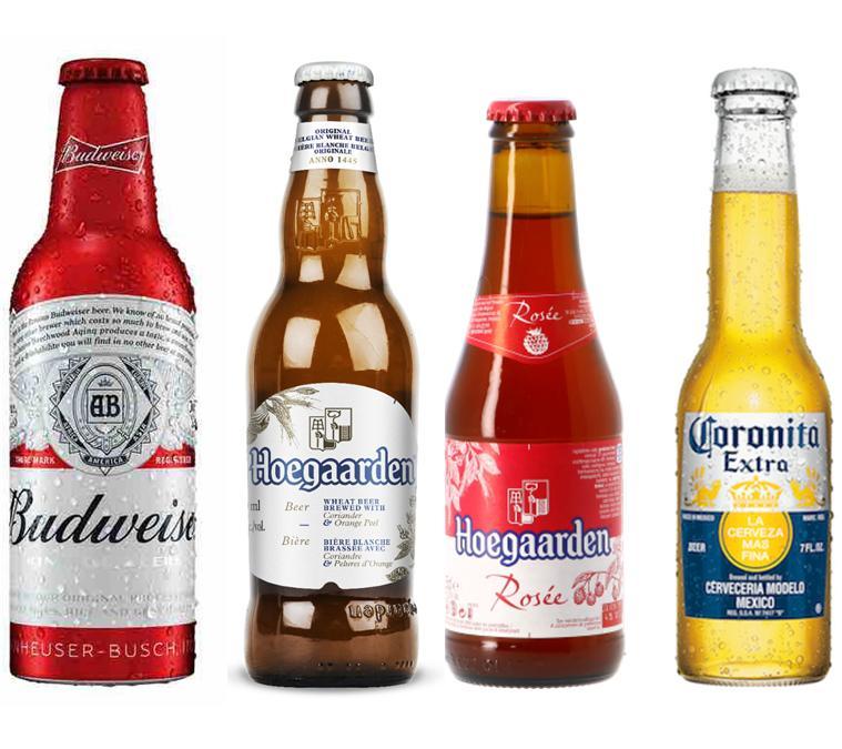 Combo 4 loại bia cao cấp (Hoegaarden White, Rosee, Budweiser, Coronita) Nhật Bản