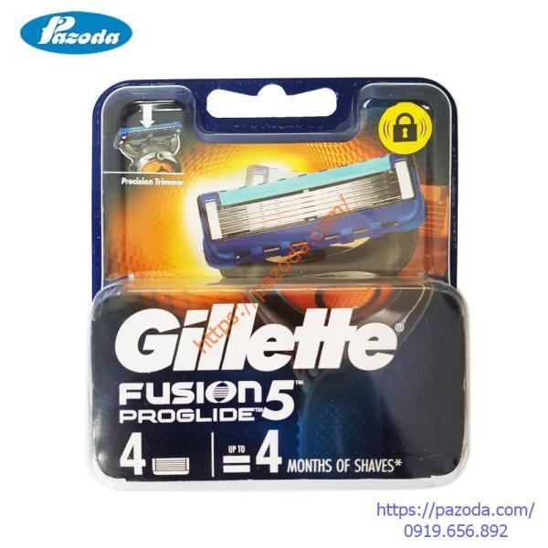 Hộp 4 lưỡi dao cạo râu Gillette Fusion Proglide giá rẻ