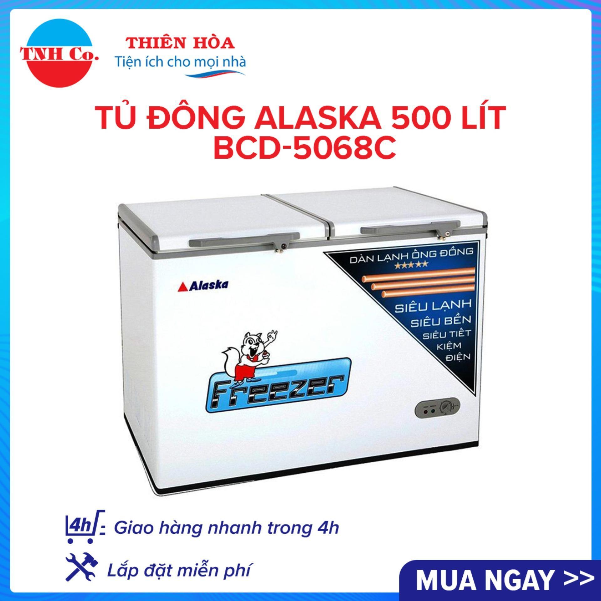 Tủ đông Alaska 500 lít BCD-5068C