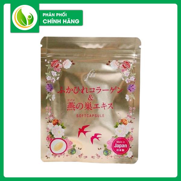 Viên Uống Collagen Tươi Chiết Xuất Tổ Yến Nhật Bản Cho Da Căng Mịn Chặn Đứng Sự Hình Thành Lão Hóa
