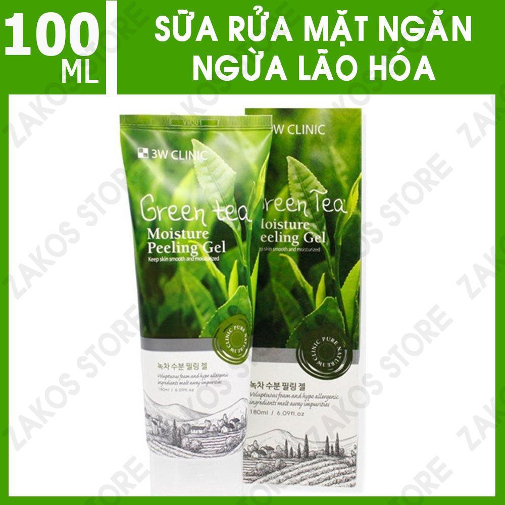 Sữa Rửa Mặt Chiết Xuất Từ Trà Xanh 3W Clinic Green Tea Cleansing Foam 100ml