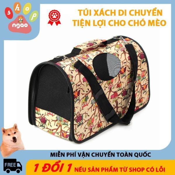 Túi xách vận chuyển cho chó mèo, túi xách ngang thời trang cho chó mèo ( loại 4kg)